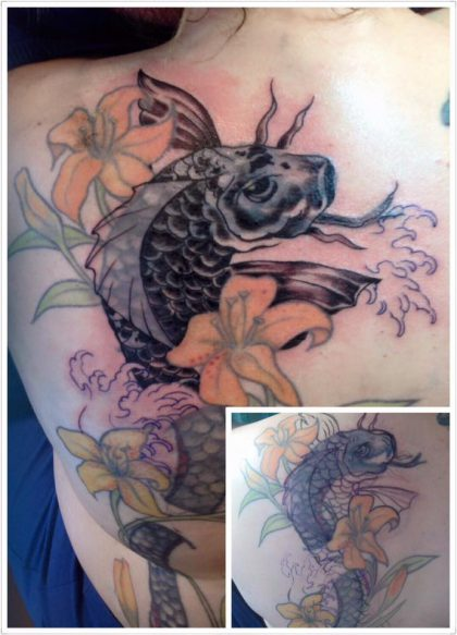 Farbreiz-Tattoo-Koifisch-Chinese-Japanese-Tattoo-1
