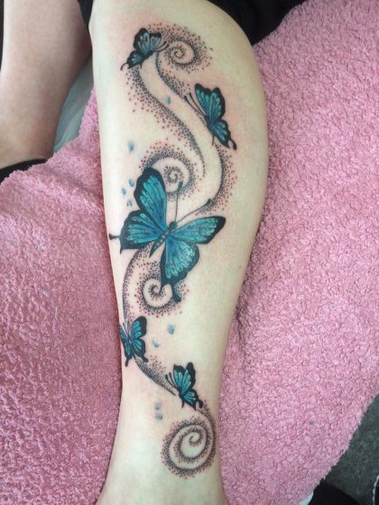 Farbreiz-Tattoo-Schmetterlinge-Tattoo-3